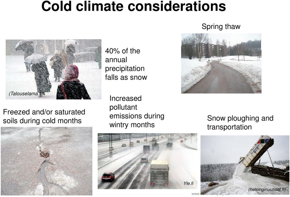 fi) Freezed and/or saturated soils during cold months Increased