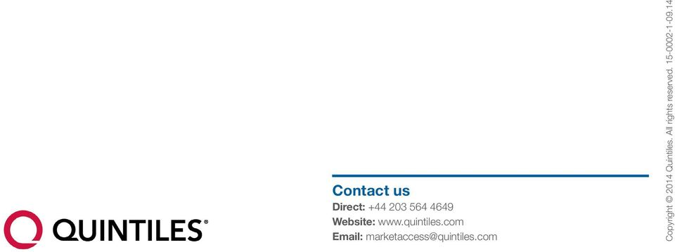 com Email: marketaccess@quintiles.