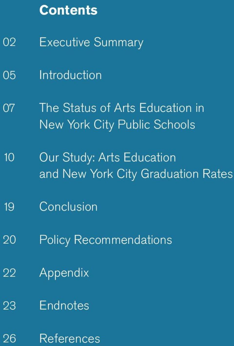Public Schools Our Study: Arts Education and New York City