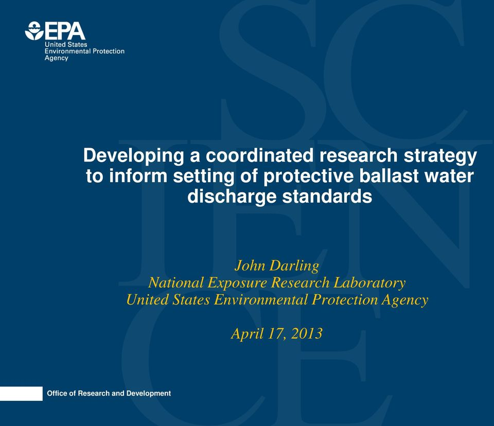 standards John Darling National Exposure Research