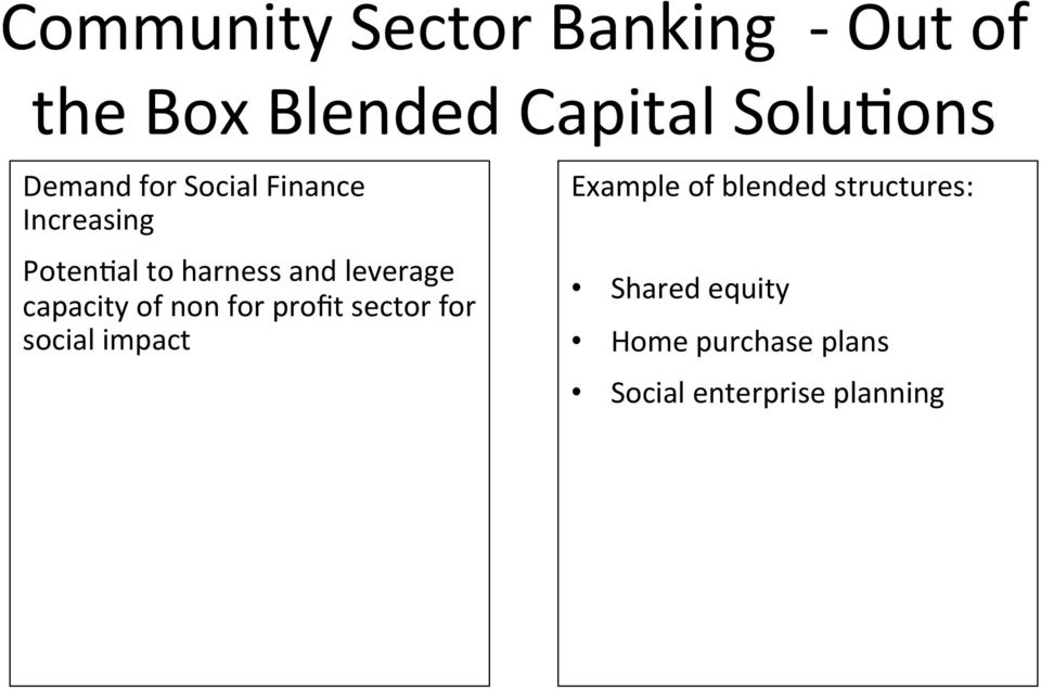 capacity of non for profit sector for social impact Example of