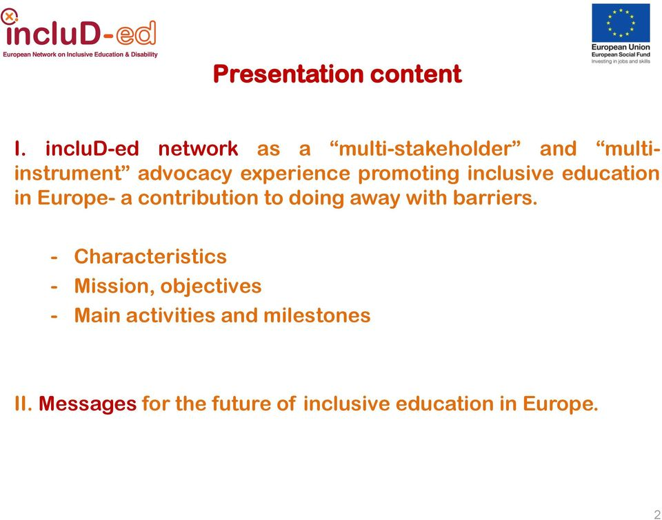 promoting inclusive education in Europe- a contribution to doing away with