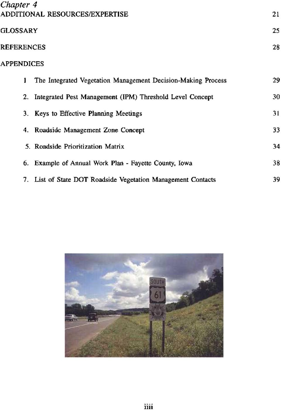 Concept 3. Keys to Effective Planning Meetings 4. Roadside Management Zone Concept 33 5.