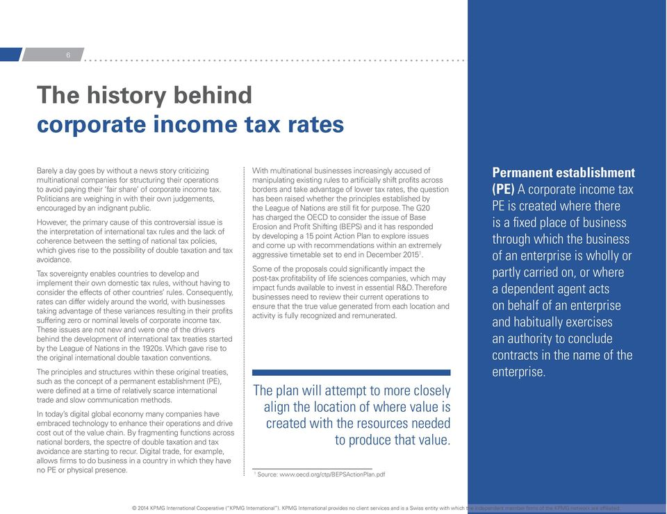 However, the primary cause of this controversial issue is the interpretation of international tax rules and the lack of coherence between the setting of national tax policies, which gives rise to the