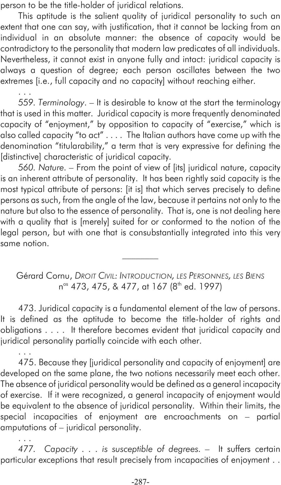 would be contradictory to e personality at modern law predicates of all individuals.