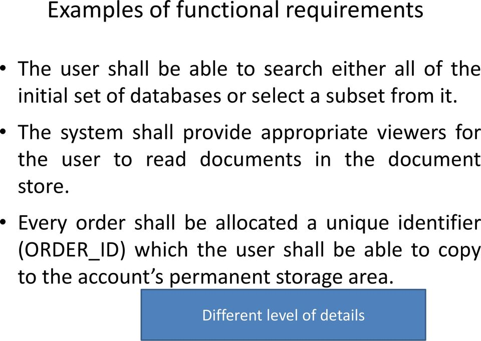 The system shall provide appropriate viewers for the user to read documents in the document store.