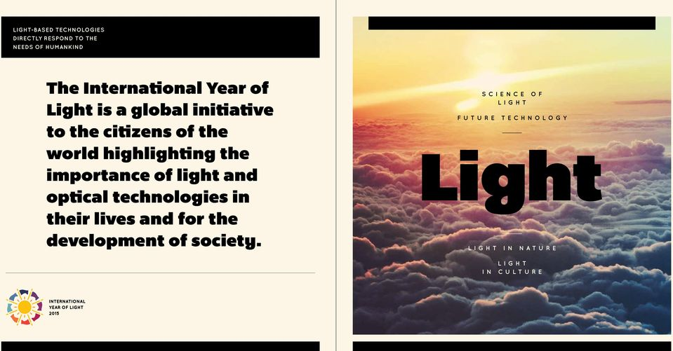 highlighting the importance of light and optical technologies in their lives and