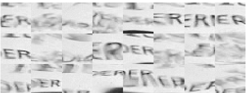 from a video sequence. ecause of the surface waves, the sequence consists of distorted versions of the image to be recovered.