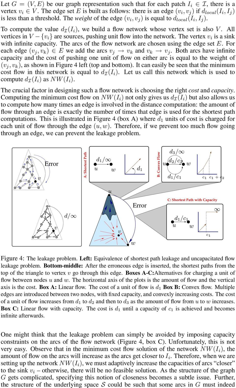 To compute the value d I (I i ), we build a flow network whose vertex set is also V. ll vertices in V {v i } are sources, pushing unit flow into the network.