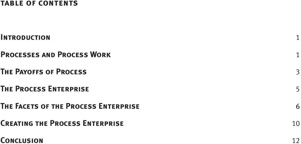 Process Enterprise 5 The Facets of the Process