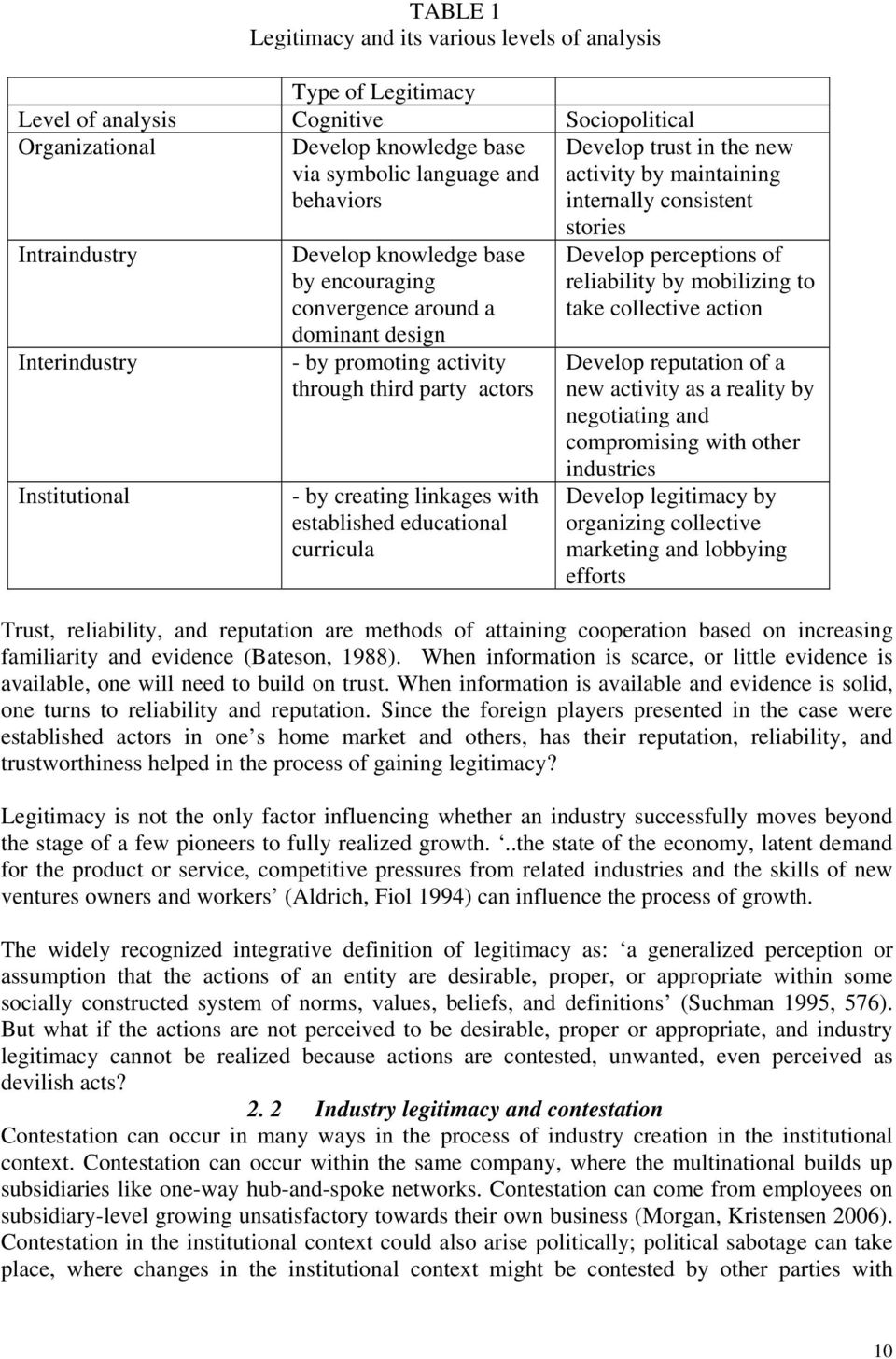 activity through third party actors - by creating linkages with established educational curricula stories Develop perceptions of reliability by mobilizing to take collective action Develop reputation
