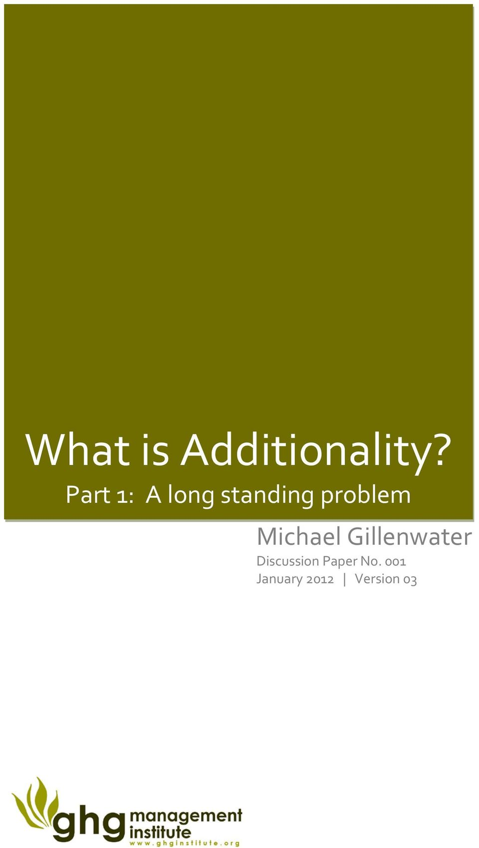 problem Michael Gillenwater