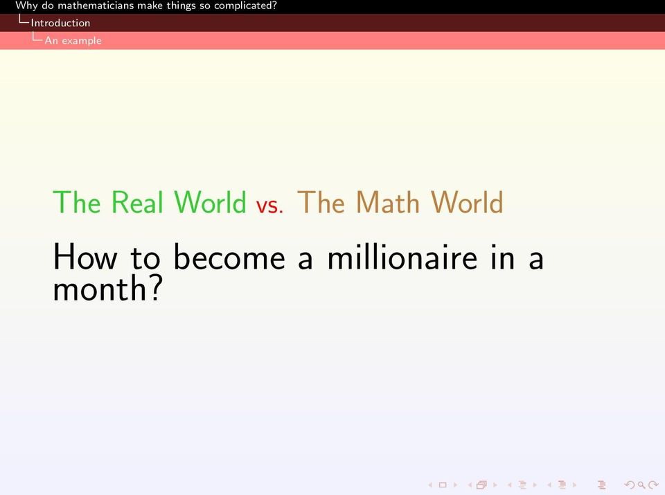 The Math World How to