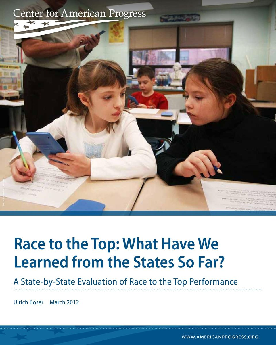 A State-by-State Evaluation of Race to the Top