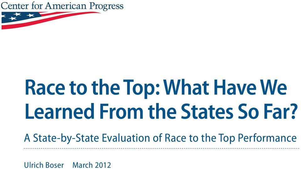 A State-by-State Evaluation of Race