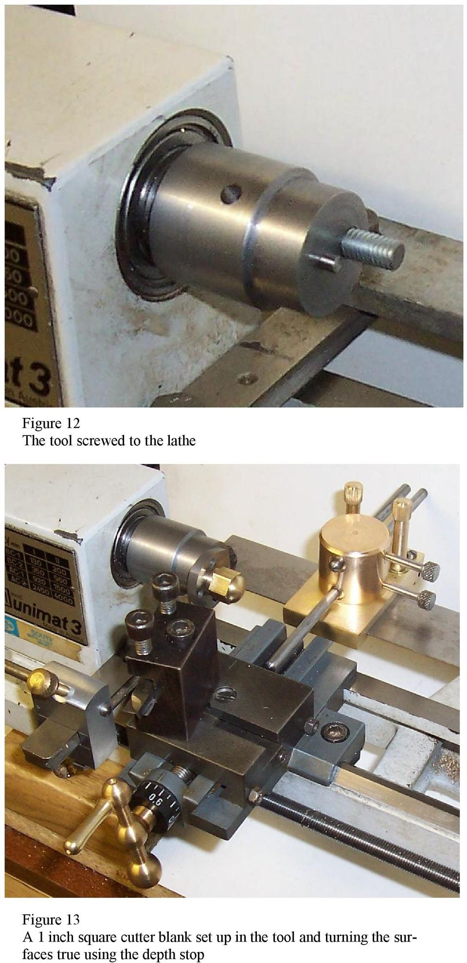 cutter blank set up in the tool and