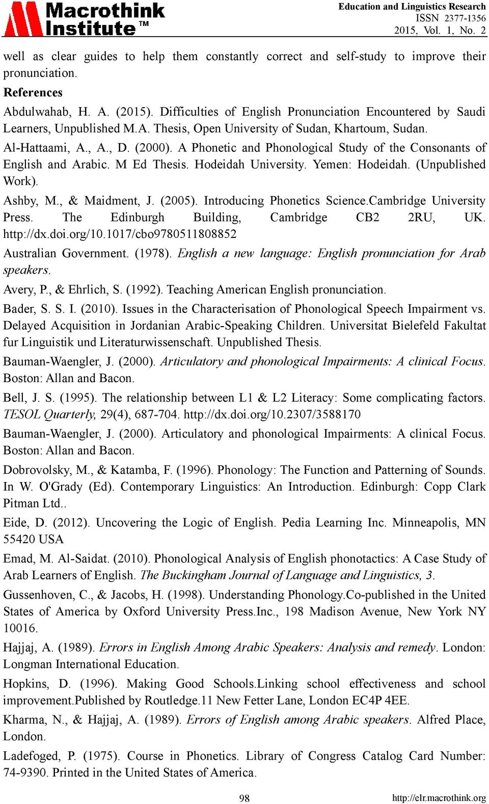 pronunciation for advanced learners of english pdf