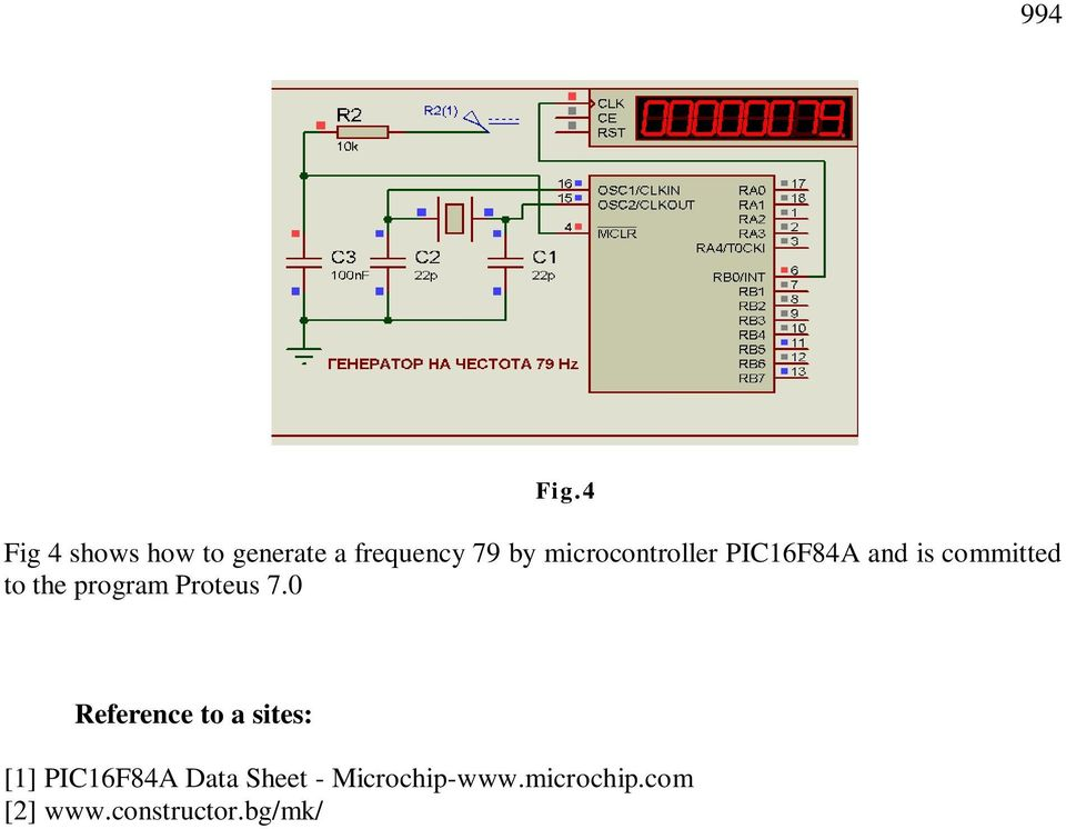microcontroller PIC16F84A and is committed to the program