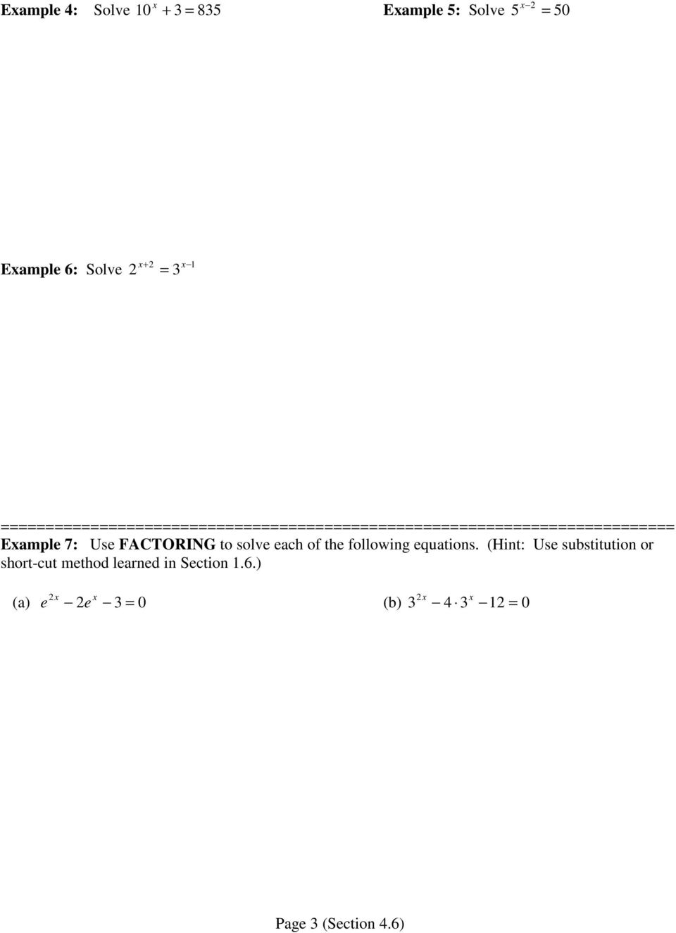 46 Exponential and Logarithmic Equations Part I PDF – Exponential and Logarithmic Equations Worksheet
