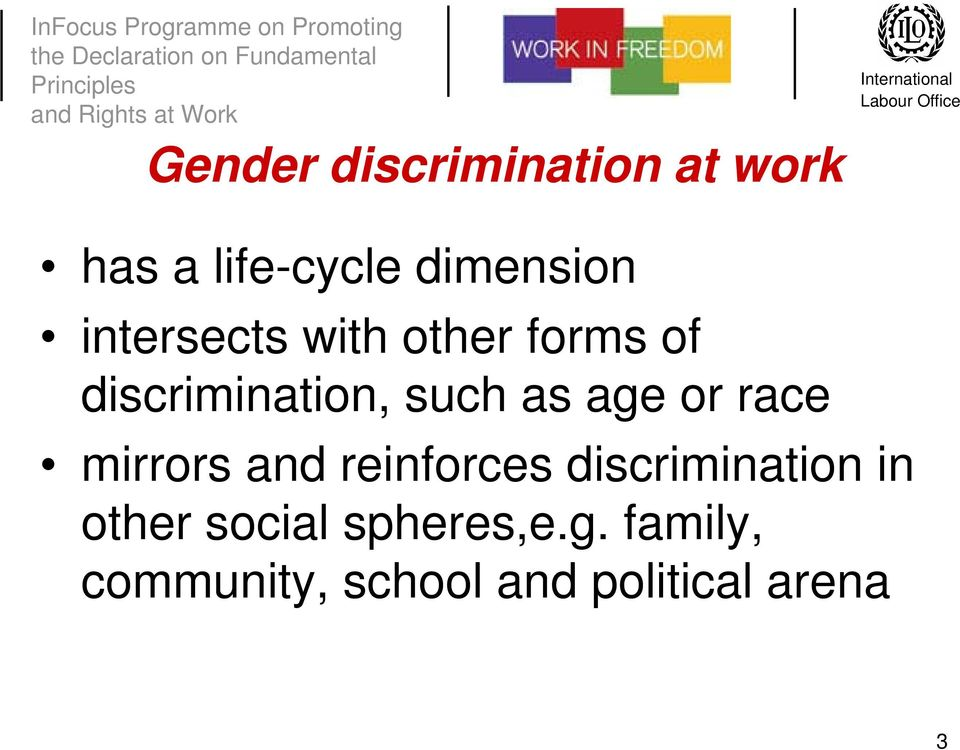 or race mirrors and reinforces discrimination in other