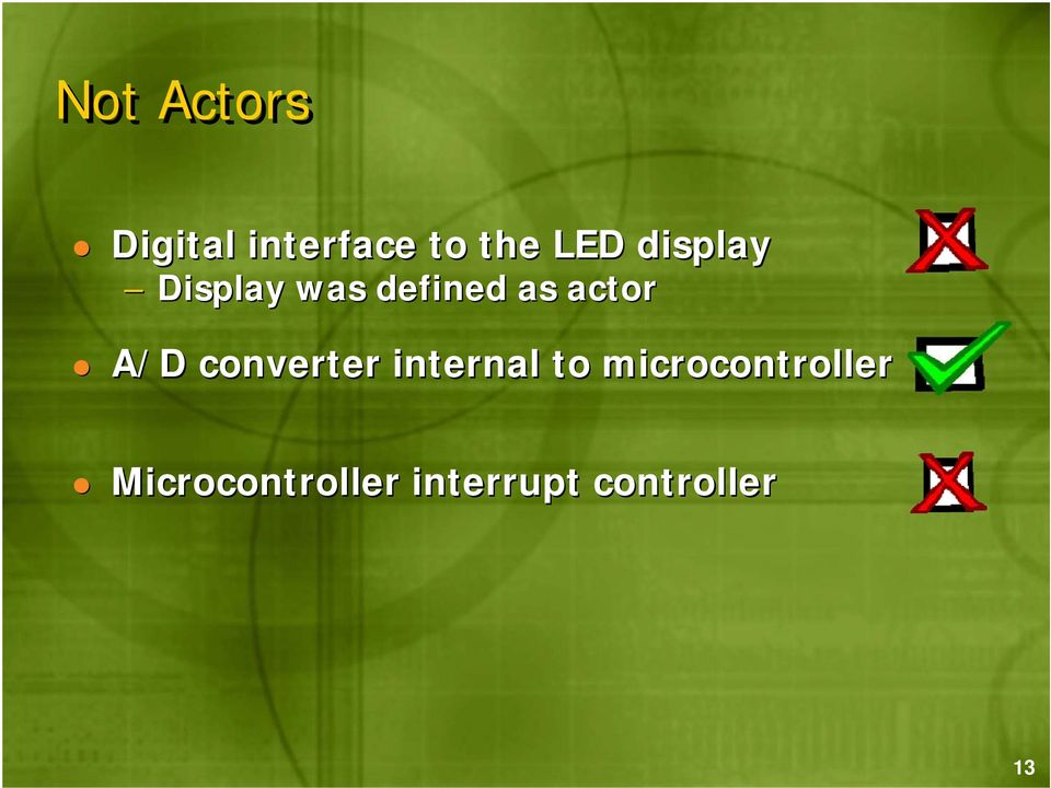 A/D converter internal to