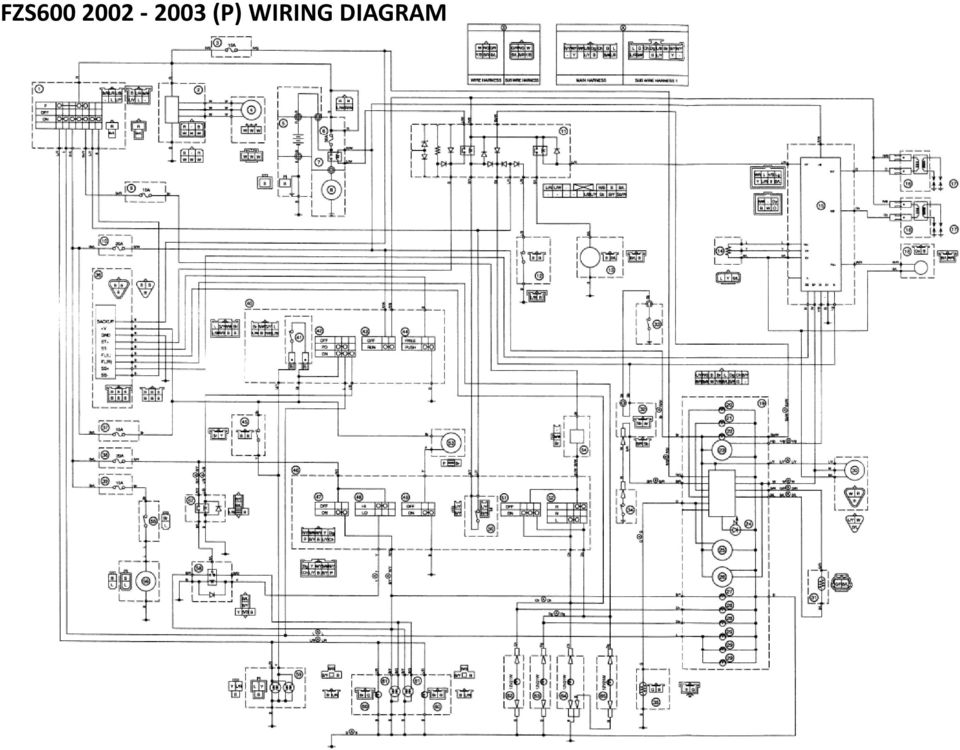 fz wiring diagram (japanese market fazer 400) 5 - pdf japan wiring diagram #14