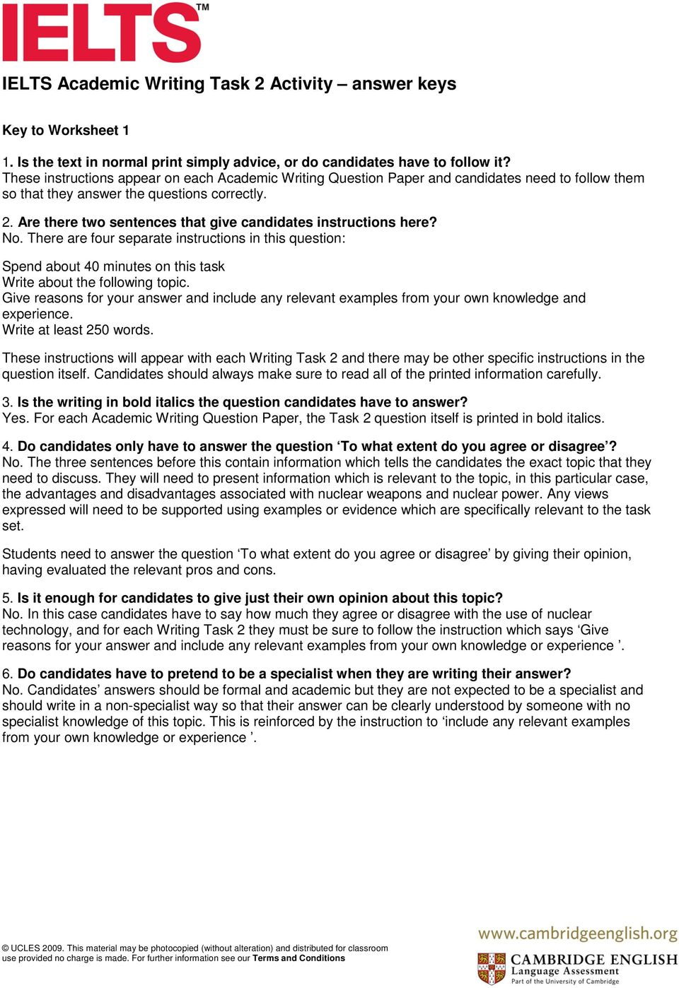 ielts writing task 2 topics academic with answers pdf