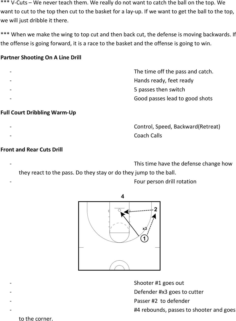 If the offense is going forward, it is a race to the basket and the offense is going to win. Partner Shooting On A Line Drill - The time off the pass and catch.