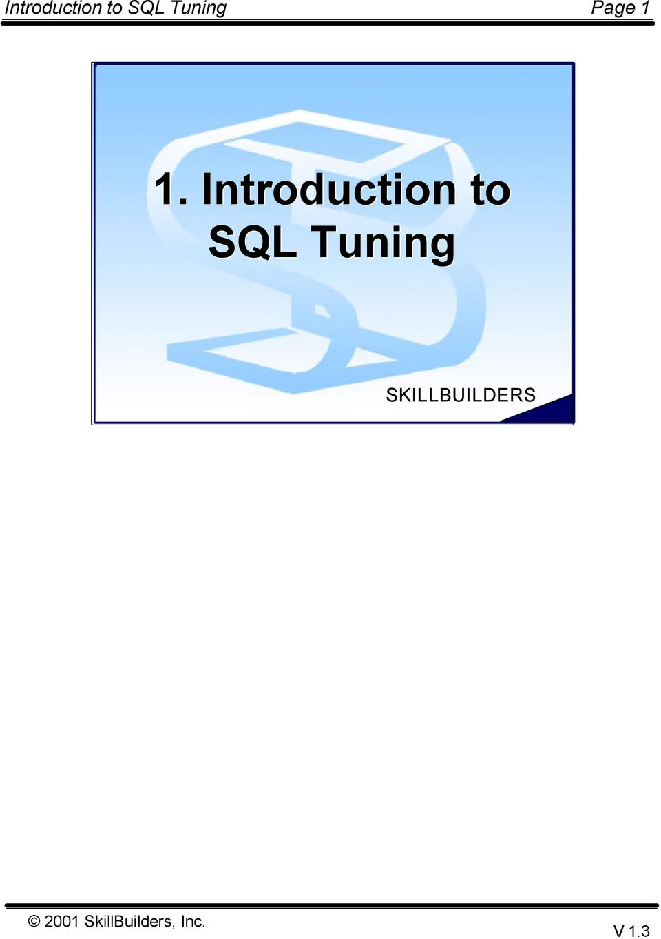 to SQL