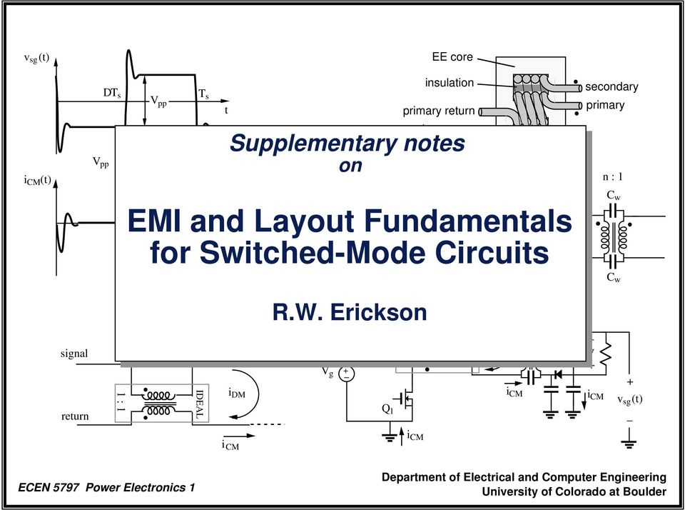 Switched-Mode Circuits secondary primary n : 1 C w C w R.W.
