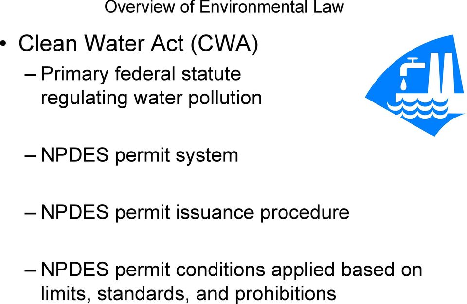 NPDES permit issuance procedure NPDES permit