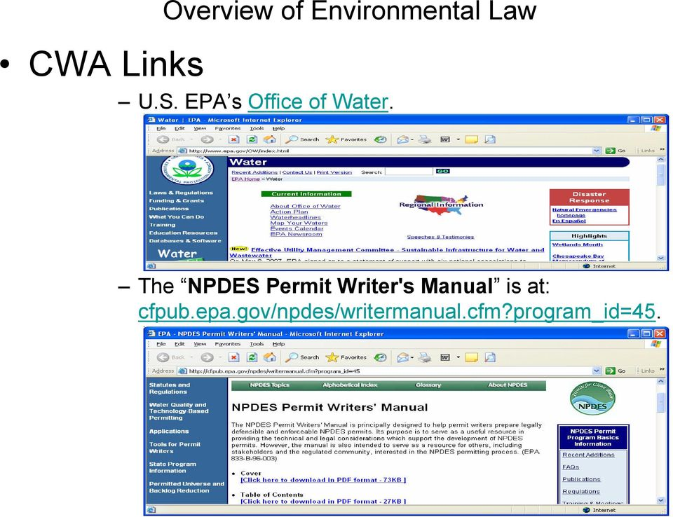 The NPDES Permit Writer's Manual