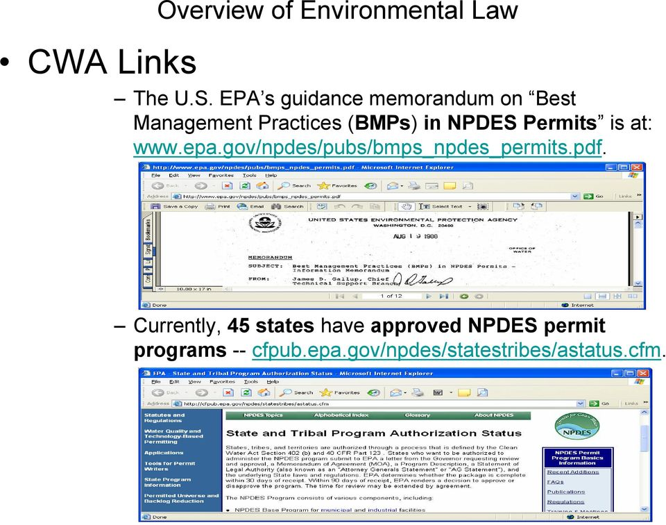 NPDES Permits is at: www.epa.gov/npdes/pubs/bmps_npdes_permits.