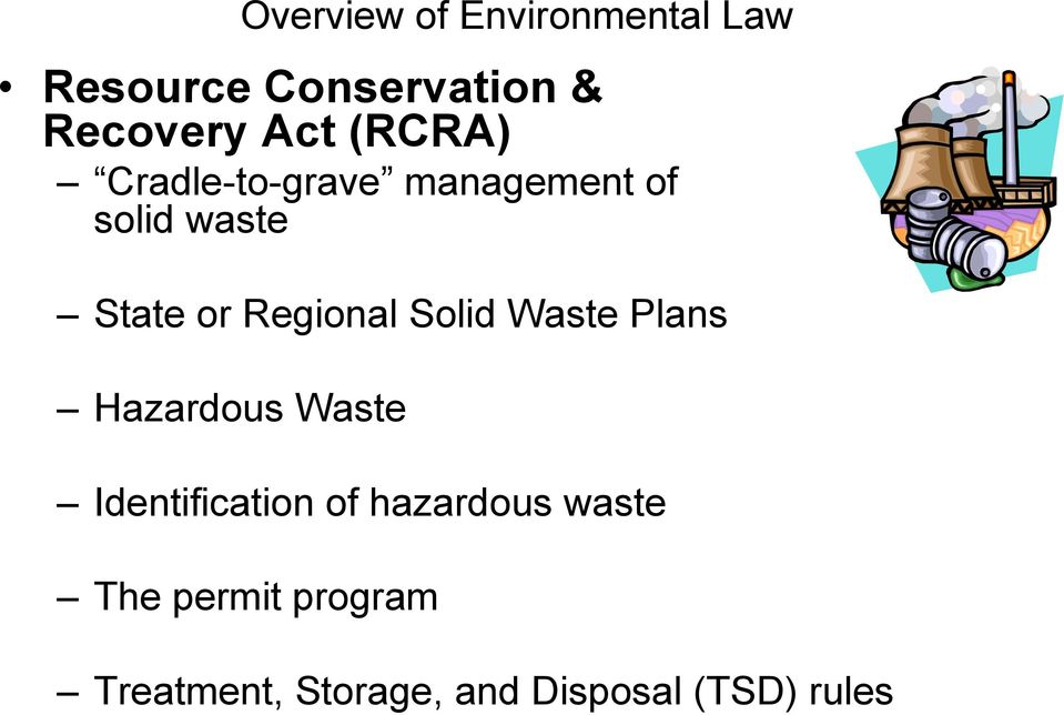 Regional Solid Waste Plans Hazardous Waste Identification