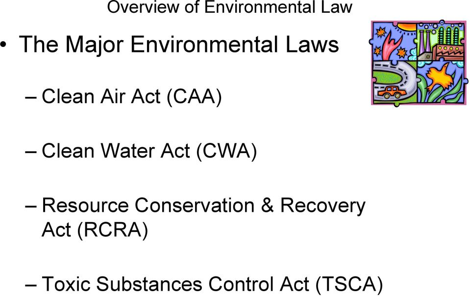 Resource Conservation & Recovery Act