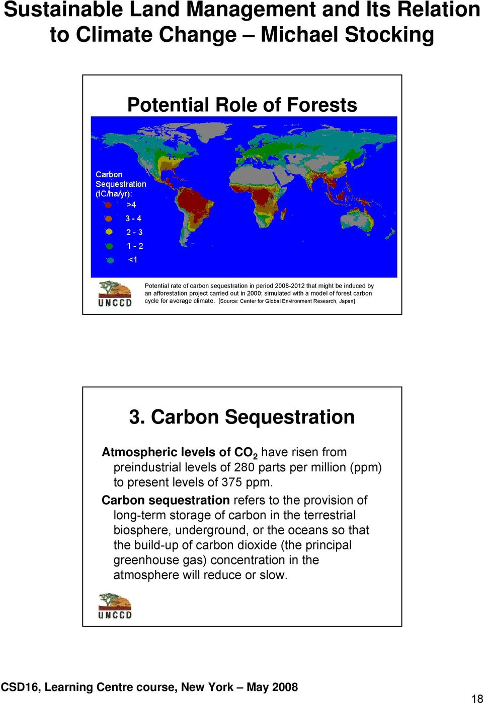 Carbon Sequestration Atmospheric levels of CO 2 have risen from preindustrial levels of 280 parts per million (ppm) to present levels of 375 ppm.