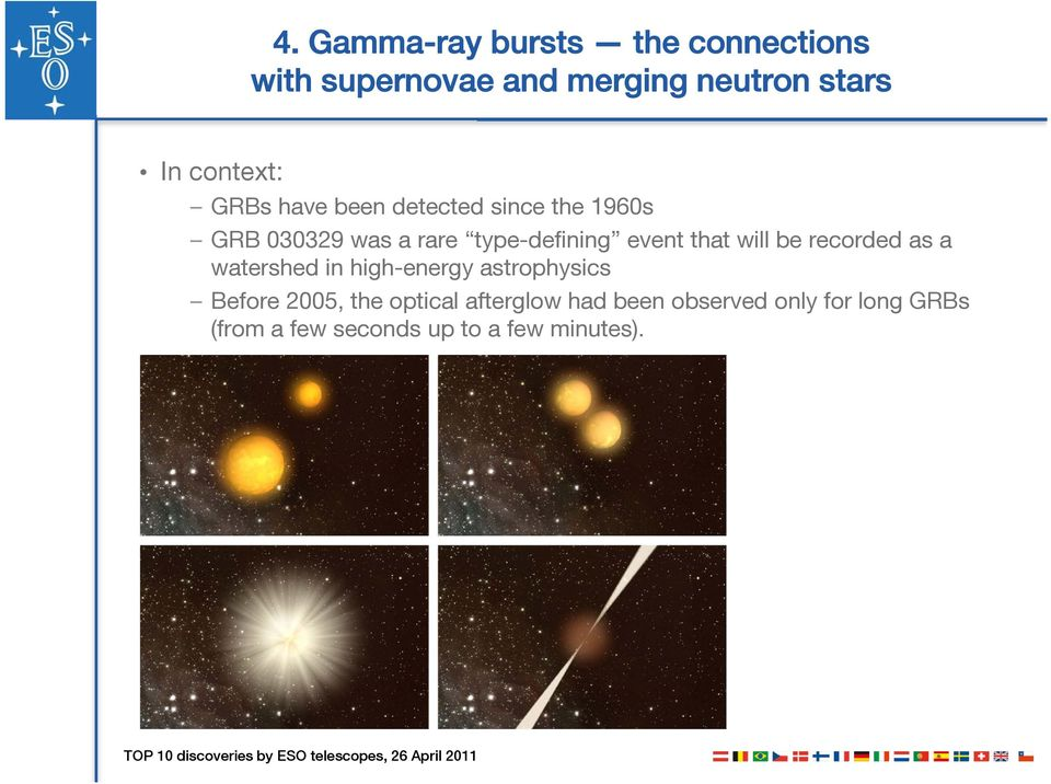 event that will be recorded as a watershed in high-energy astrophysics Before 2005, the