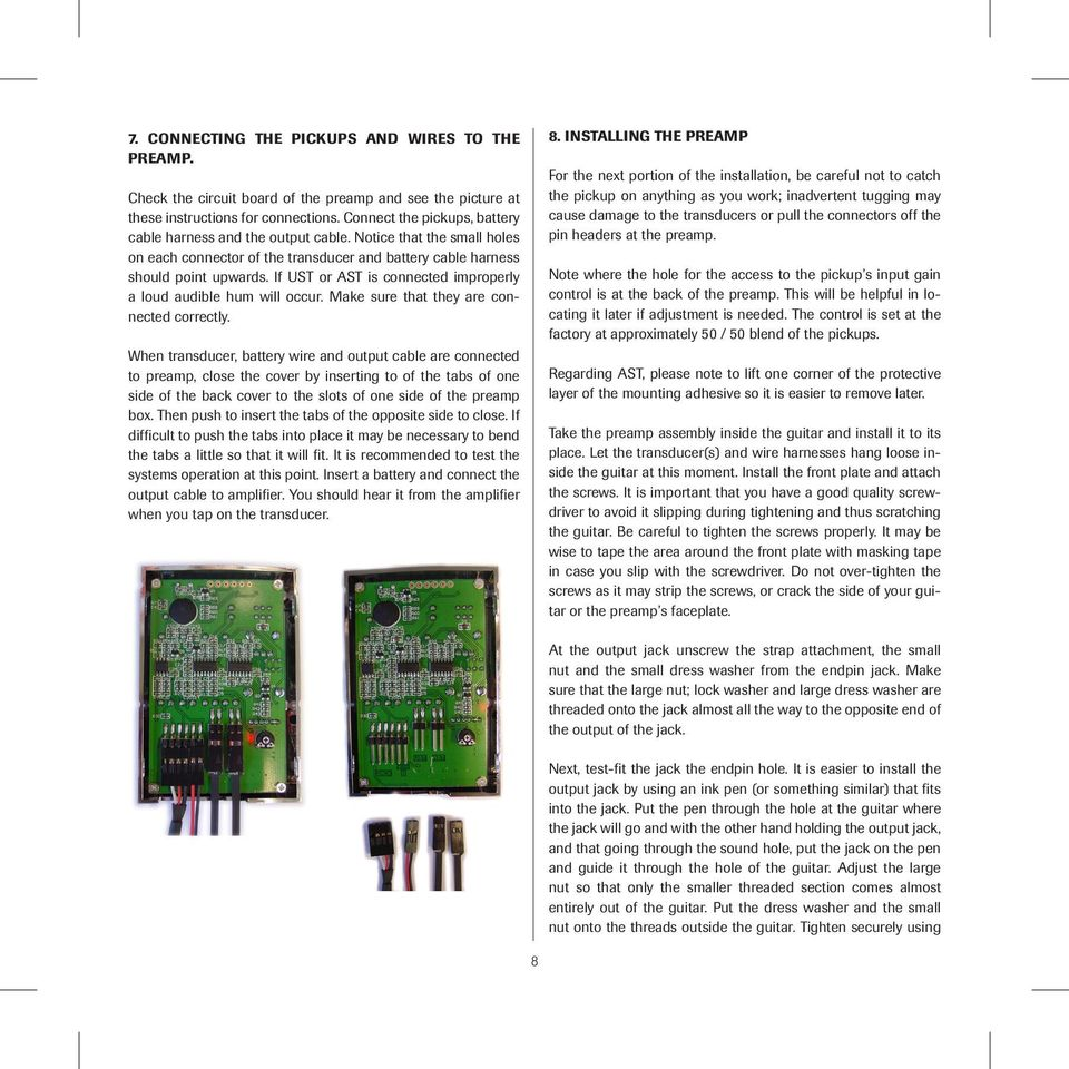 Installation Manual B Band A6t Sidemount Preamp With Ust And Trailer Harnesses Harness 4 5 7 Way Wiring Molded Connectors If Or Ast Is Connected Improperly A Loud Audible Hum Will Occur Make Sure