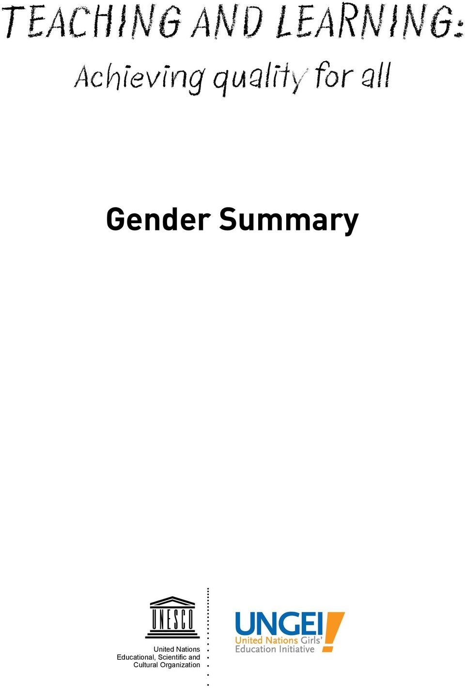 Gender Summary United Nations