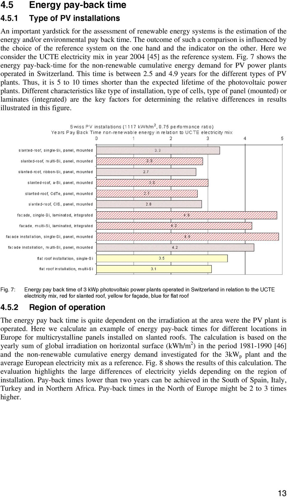 Here we consider the UCTE electricity mix in year 2004 [45] as the reference system. Fig.