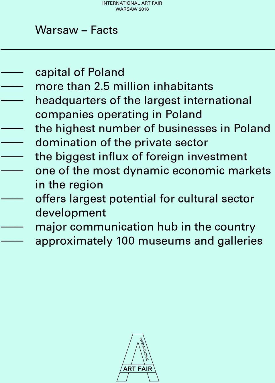 number of businesses in Poland domination of the private sector the biggest influx of foreign investment one