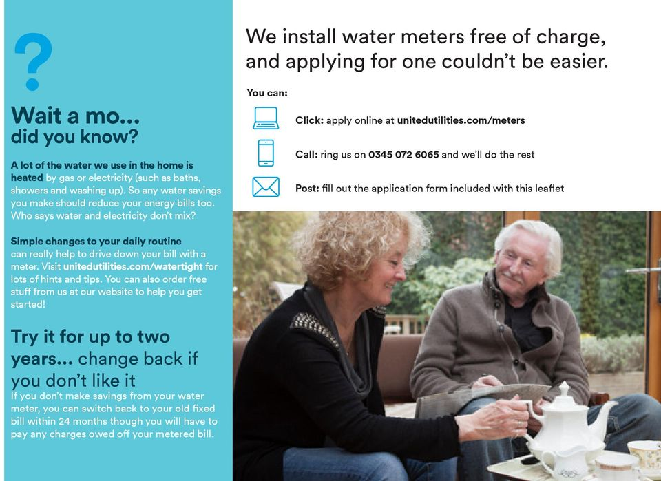 can: Click: apply online at unitedutilities.