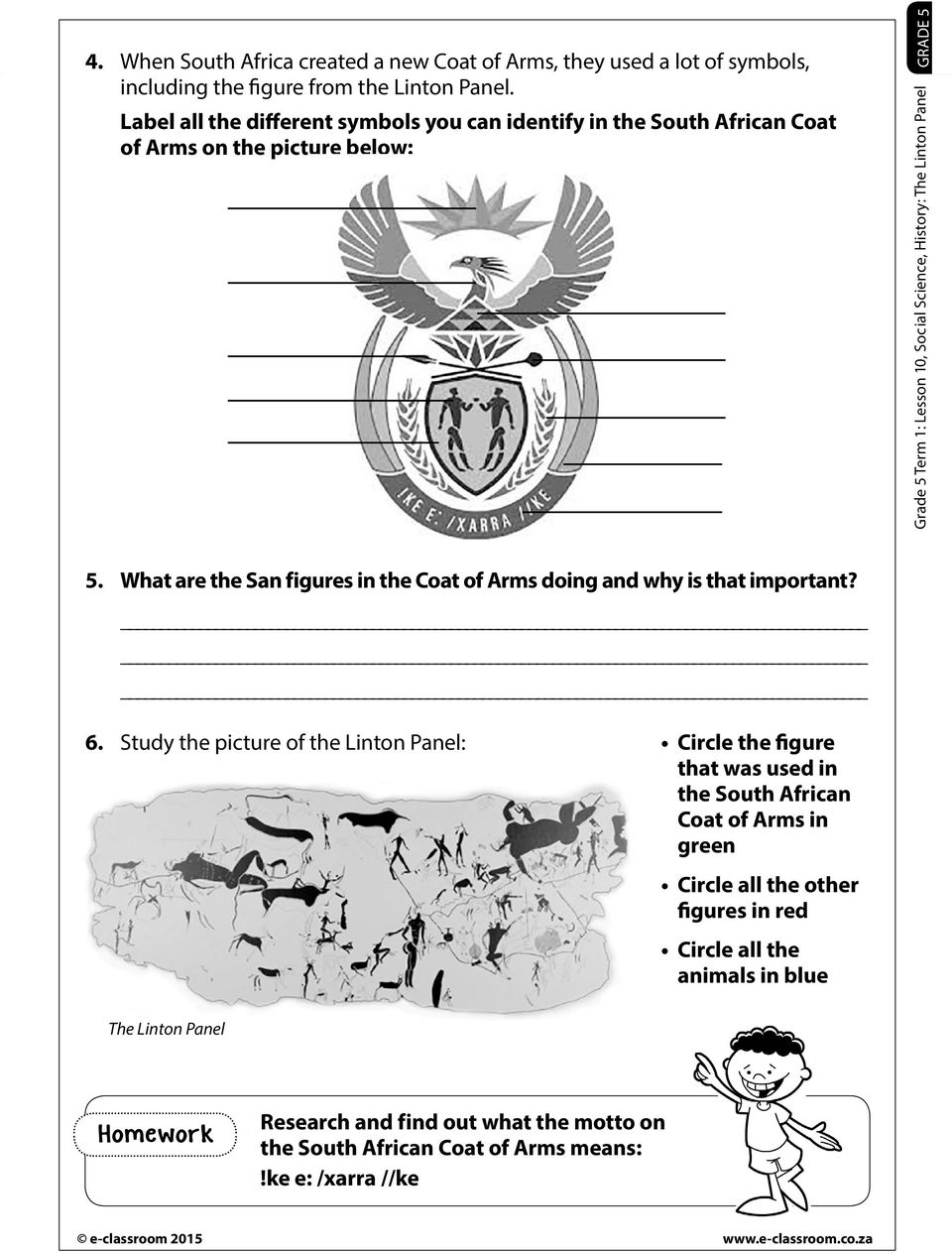 The Linton Panel  Resources Worksheet Introductory activity