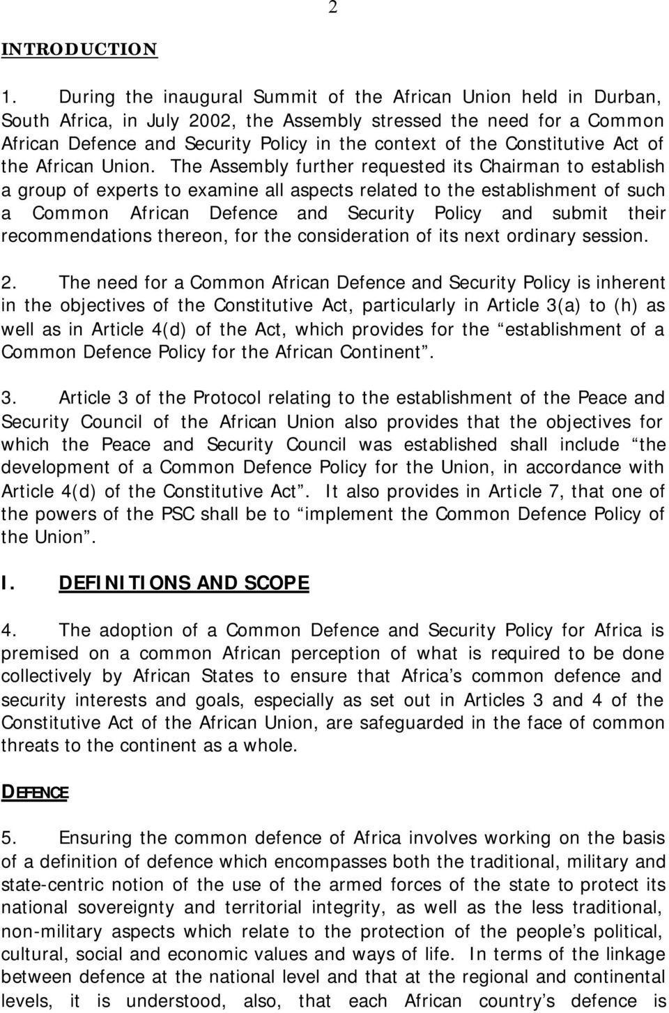Constitutive Act of the African Union.