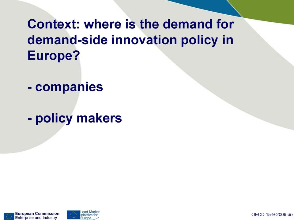 innovation policy in