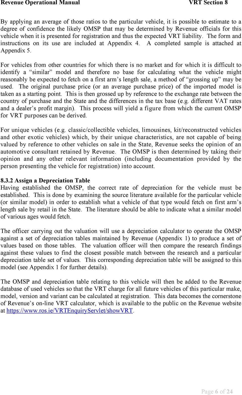 x50 Used Vehicle Appraisal Valuation Form for Garages and Car Dealers