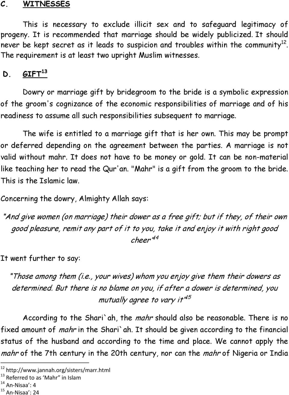 Requirements Of A Valid Islamic Marriage Vis Vis Requirements Of A