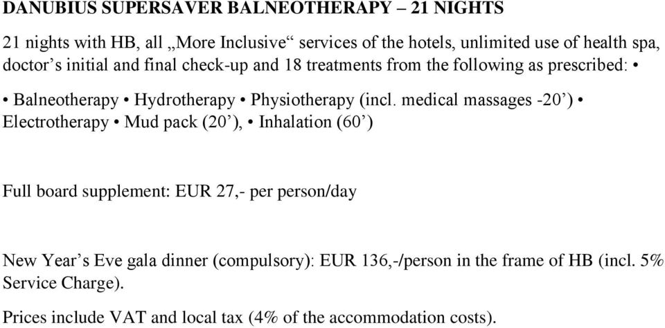 Physiotherapy (incl.