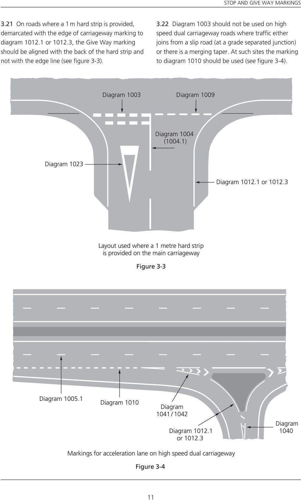 3, the Give Way marking should be aligned with the back of the hard strip and not with the edge line (see figure 3-