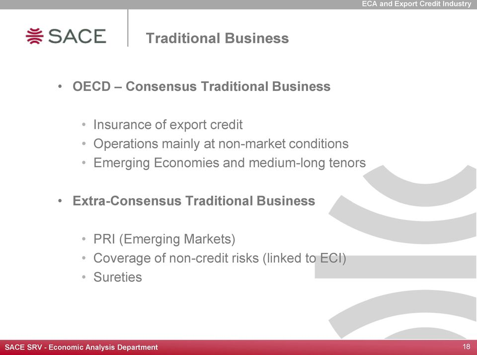 Emerging Economies and medium-long tenors Extra-Consensus Traditional Business